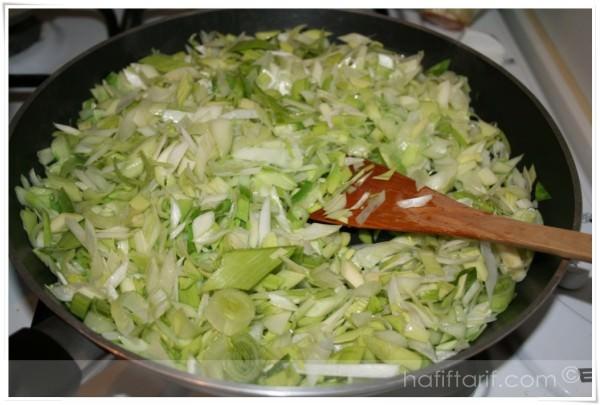 fırında patatesli pırasa