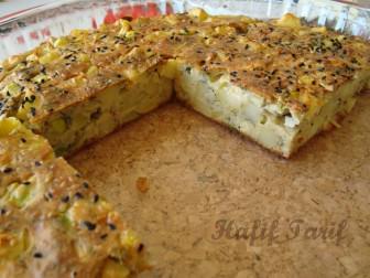 Kabaklı Patatesli Kek tarifi
