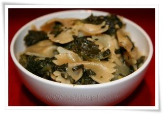 Öğle yemeği seçeneği: Ispanaklı Makarna