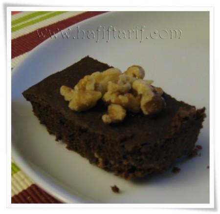 siyah fasulyeli şekersiz browni
