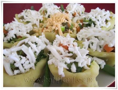 papatya şeklinde patates salatası