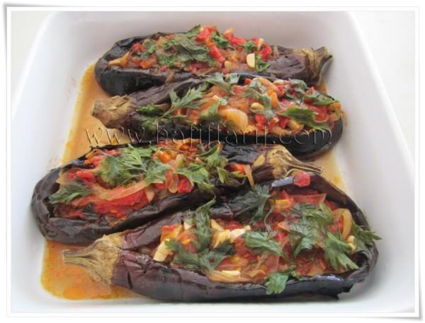 fırında közlenmiş patlıcanla imambayıldı