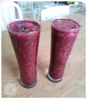 Yaban Mersinli Smoothie