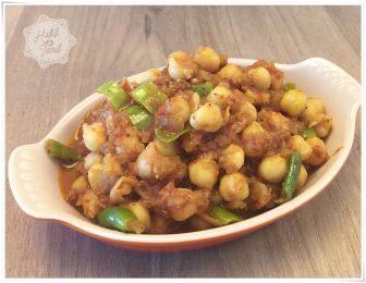 Nohutlu bir Hint yemeği: Chickpea Masala