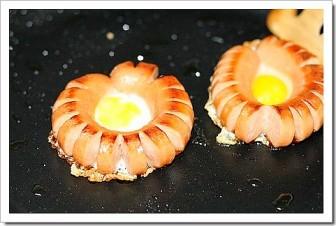 Yumurtalı Sosis tarifi