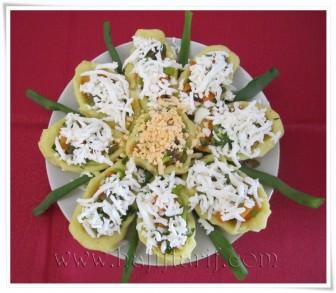 Papatya Şeklinde Patates Salatası tarifi